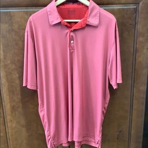 Greg Norman Red Dri Fit Golf Polo